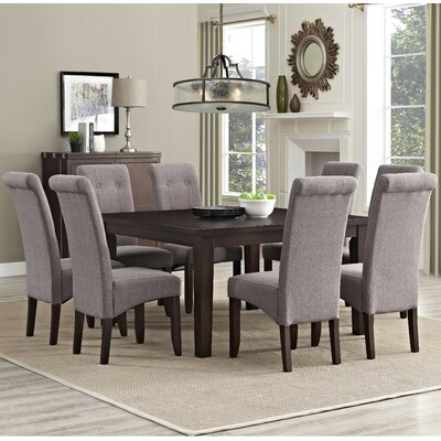 Eastwood 9 Piece Dining Set Chair Finish: Light Mocha