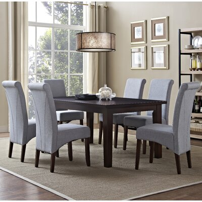 Avalon 7 Piece Dining Set Chair Finish: Dove Gray