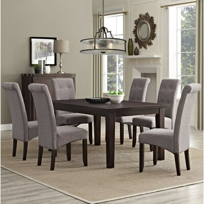 Eastwood 7 Piece Dining Set Chair Finish: Light Mocha