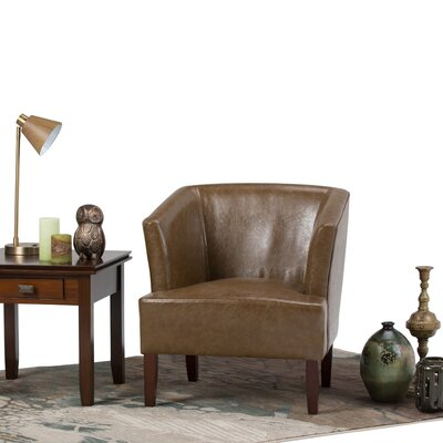 Longford Barrel Chair Upholstery: Saddle Brown