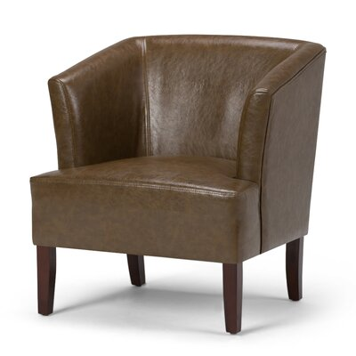 Longford Armchair Upholstery: Saddle Brown