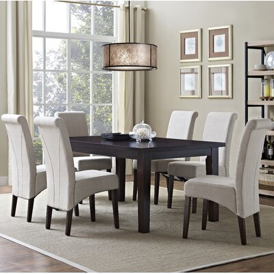 Avalon 7 Piece Dining Set Chair Finish: Natural