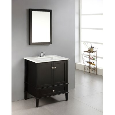 Chelsea 31 Single Bathroom Vanity Set Base Finish: Black