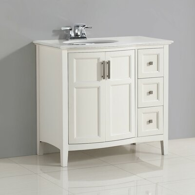 Winston 37 Single Rounded Front Bath Vanity Set