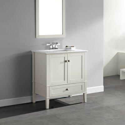 Chelsea 31 Single Bathroom Vanity Set Base Finish: White