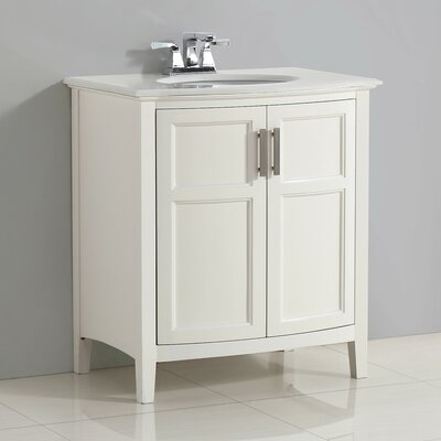 Winston 31 Single Rounded Front Bathroom Vanity Set