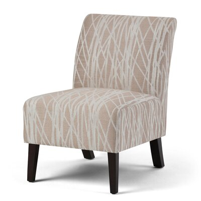 Woodford Slipper Chair Upholstery: Beige / White