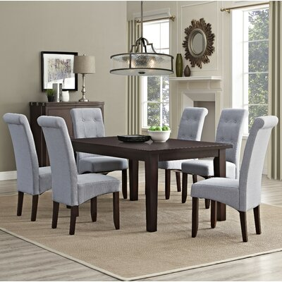 Eastwood 7 Piece Dining Set Chair Finish: Dove Gray