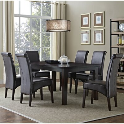 Avalon 7 Piece Dining Set Chair Finish: Tanners Brown