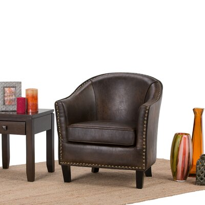 Kildare Barrel Chair Upholstery: Distressed Brown
