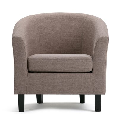 Austin Barrel Chair Upholstery: Fawn Brown