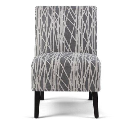 Woodford Slipper Chair Upholstery: Gray / White