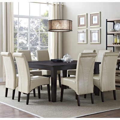 Avalon 9 Piece Dining Set Chair Finish: Satin Cream