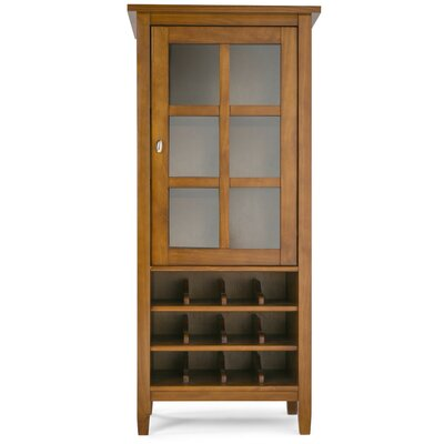 Warm Shaker 12 Bottle Floor Wine Cabinet Finish: Honey Brown