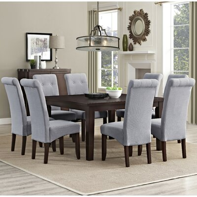 Eastwood 9 Piece Dining Set Chair Finish: Dove Gray