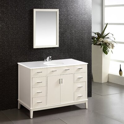 Urban Loft 48 Single Bathroom Vanity Set Base Finish: White