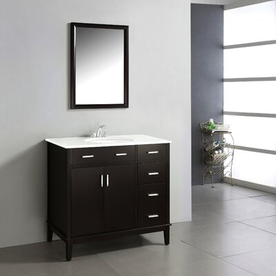Urban Loft 36 Single Bathroom Vanity Set Base Finish: Espresso