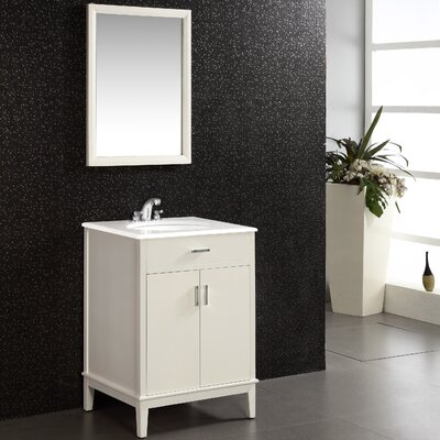 Urban Loft 25 Single Bathroom Vanity Set Base Finish: White