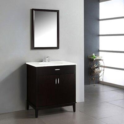 Urban Loft 31 Single Bathroom Vanity Set Base Finish: Espresso