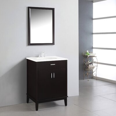 Urban Loft 25 Single Bathroom Vanity Set Base Finish: Espresso