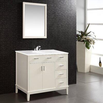 Urban Loft 36 Single Bathroom Vanity Set Base Finish: White