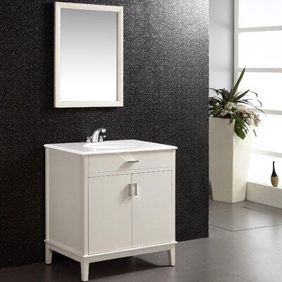 Urban Loft 31 Single Bathroom Vanity Set Base Finish: White