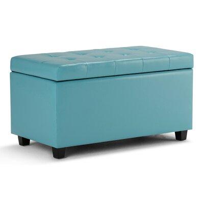 Cosmopolitan Storage Ottoman Upholstery: Blue