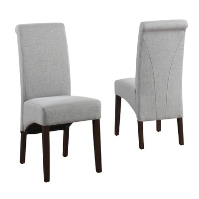 Avalon Fabric Parsons Chair Finish: Dove Gray
