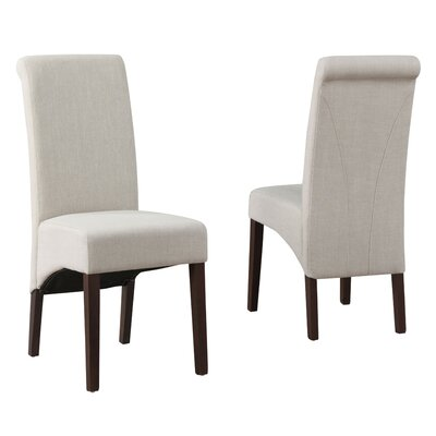 Avalon Fabric Parsons Chair Finish: Natural