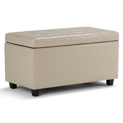 Cosmopolitan Rectangular Storage Ottoman Upholstery: Satin Cream