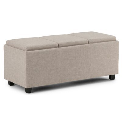Avalon Rectangular Storage Ottoman Upholstery: Natural