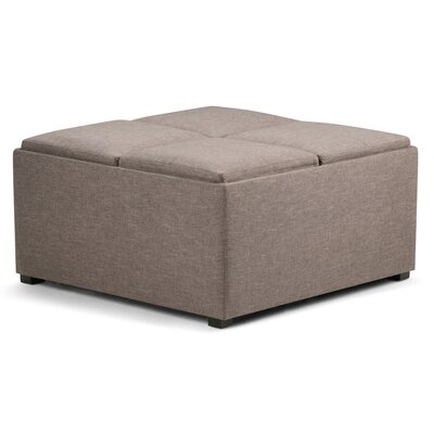 Avalon Storage Ottoman Upholstery: Fawn Brown