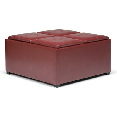 Avalon Coffee Table Storage Ottoman Upholstery: Radicchio Red