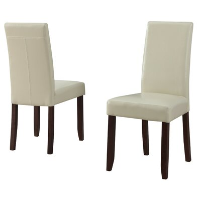 Acadian Upholstered Dining Chair Upholstery Color: Satin Cream
