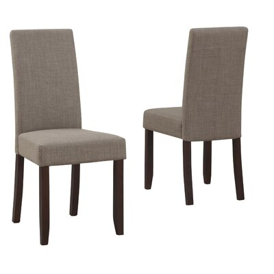 Acadian Upholstered Dining Chair Upholstery Color: Light Mocha