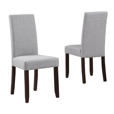 Acadian Upholstered Dining Chair Upholstery Color: Dove Gray