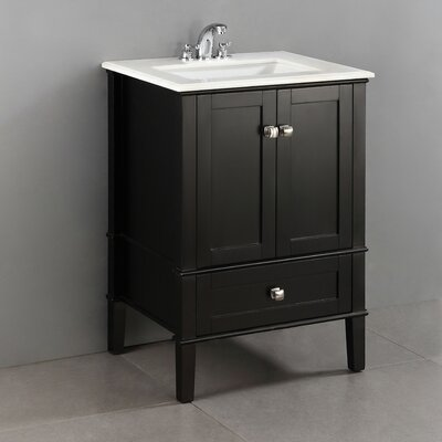 Chelsea 24 Single Bathroom Vanity Set Base Finish: Black