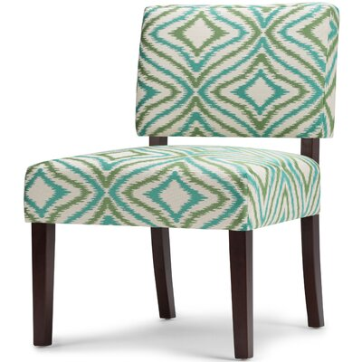 Virginia Slipper Chair Upholstery: Green
