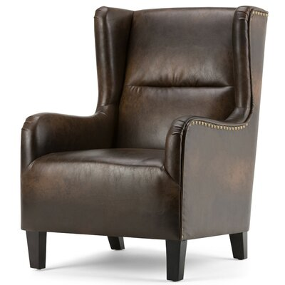 Taylor Bonded Leather Wingback Chair