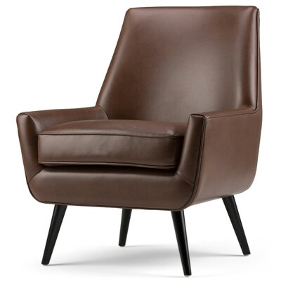 Warhol Mid Century Armchair Color: Saddle Brown