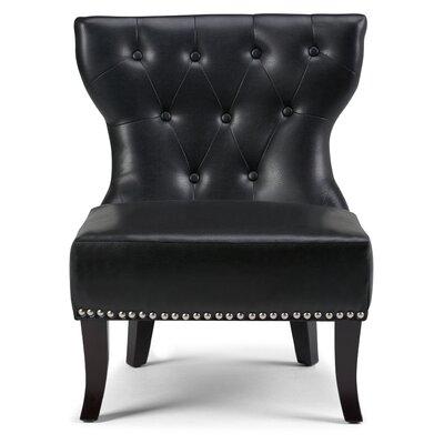 Kitchener Slipper Chair Color: Black