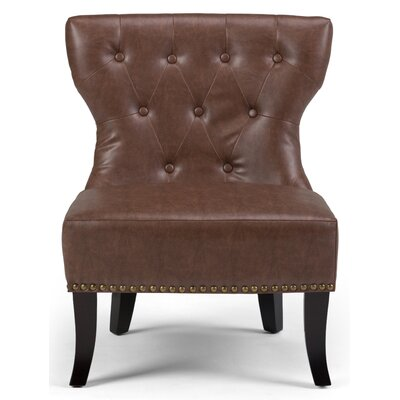Kitchener Slipper Chair Color: Rustic Brown