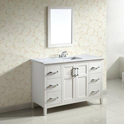 Winston 48 Single Bathroom Vanity Set Base Finish: White