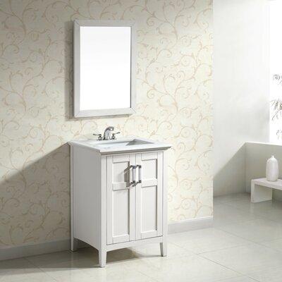 Winston 25 Single Bathroom Vanity Set Base Finish: White