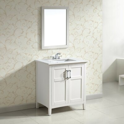 Winston 31 Single Bathroom Vanity Set Base Finish: White