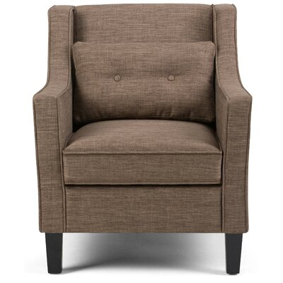 Ashland Armchair Color: Fawn Brown