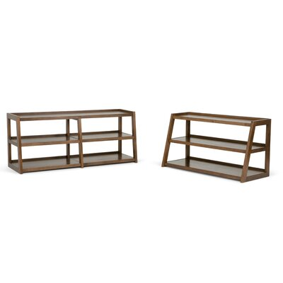 Sawhorse Media 48 TV Stand Color: Brown