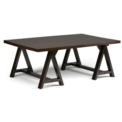 Sawhorse Coffee Table Color: Dark Chestnut Brown