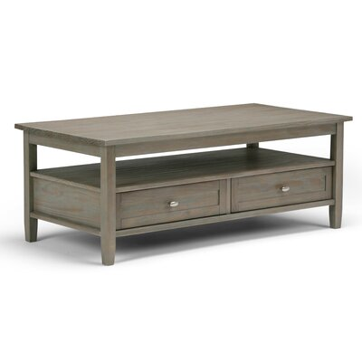 Warm Shaker Coffee Table Color: Distressed Gray