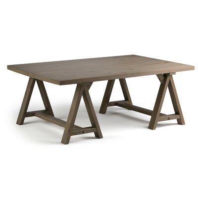 Sawhorse Coffee Table Color: Distressed Gray